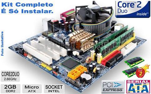 Kit Lga 775 Completo: Core 2 Duo E8400+ 4g + Cooler