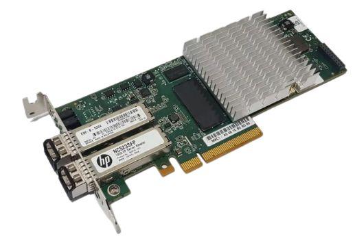 PLACA REDE DUAL FIBRA HP523SFP+ 10GB PCI-E / QLE3242-HP