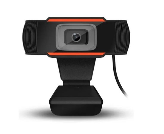 WEBCAM V5 HD 720P | COM MICROFONE | PRETO E LARANJA