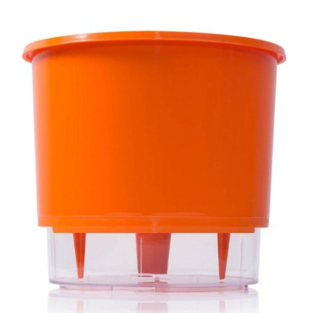 Vaso Autoirrigável Raiz PEQUENO N02 12 cm X 11 cm - Laranja