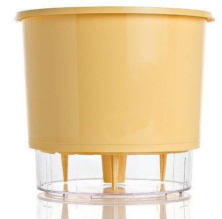 Vaso Autoirrigável Raiz PEQUENO N02 12 cm X 11 cm - Pêssego