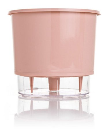 Vaso Autoirrigável PEQUENO N02 12 cm x 11 cm Rosa Quartzo Linha Wishes