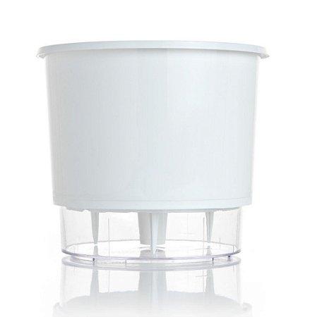Vaso Autoirrigável MÉDIO N03 16 cm x 14 cm Branco