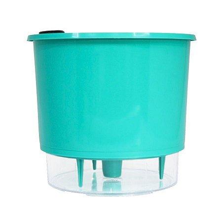 Vaso Autoirrigável Raiz PEQUENO N02 12 cm X 11 cm - Verde Raiz Linha Whishes