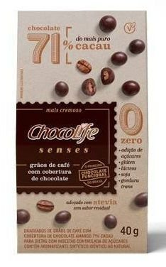 Drageado de Grãos de Café com Cobertura de Chocolife 71% - 40g