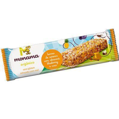 Barra de Cereais Com Abacaxi, Blueberry e Coco Monama - 25g