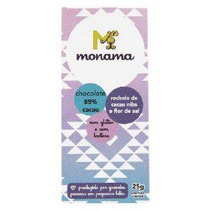 Chocolate 85% Cacau Nibs e Flor de Sal Monana - 25g