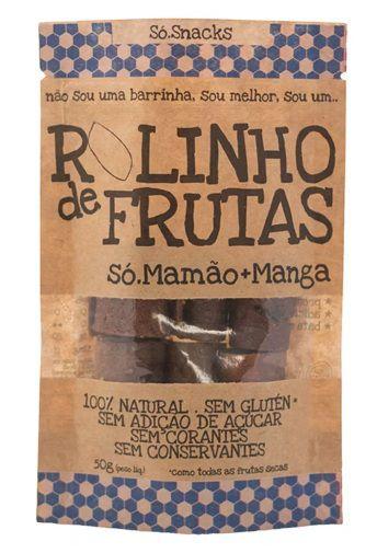 Rolinho de Mamão + Manga Só Snacks - 50g