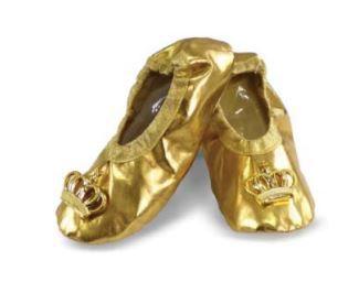 Sapatilha Dourada Coroa