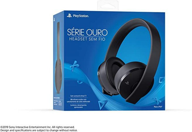 Headset Gamer Sony - Série Ouro PS4 e PS4 VR