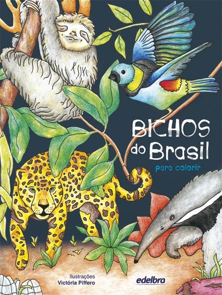 Bichos do Brasil para colorir