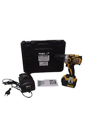 Furadeira/Parafusadeira 1/2 1800 RPM C/ Carregador E Bateria 18V/4.0AH  - PUMA