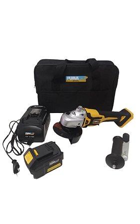 Esmerilhadeira 4 1/2 8000 RPM C/ Carregador E Bateria 18A-2P - PUMA