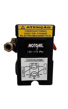 Pressostato Automatico 135/175lbf 4Vias C/Aalavanca - MOTOMIL