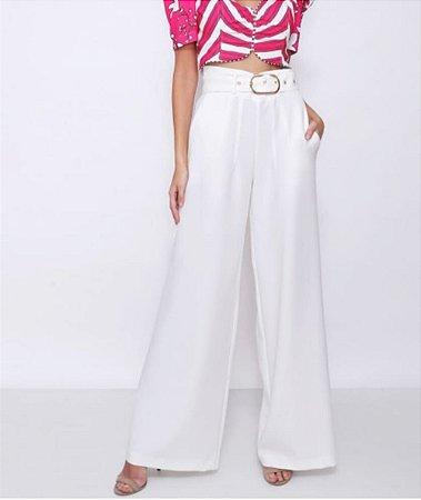 Calça Pantalona Alfaiataria Com Cinto Karmani