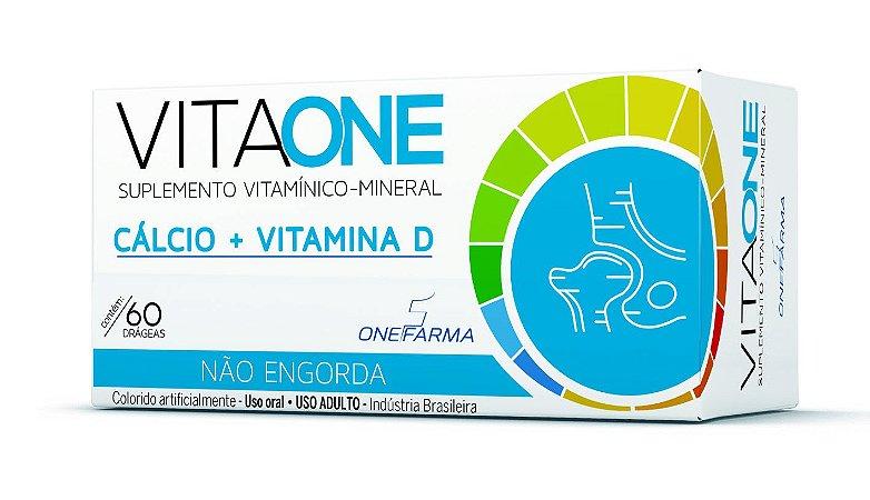 VitaOne Cálcio 600mg + Vitamina D3 com 60 comprimidos