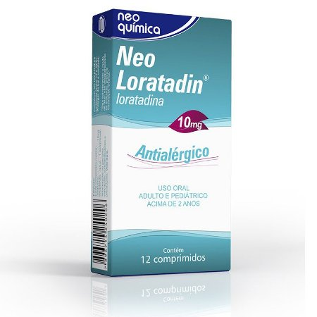 Neo Loratadin 10 mg com 12 comprimidos Neo Química
