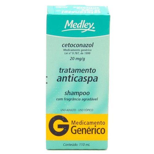 Cetoconazol Shampoo 20 mg/mL com 110 mL Medley