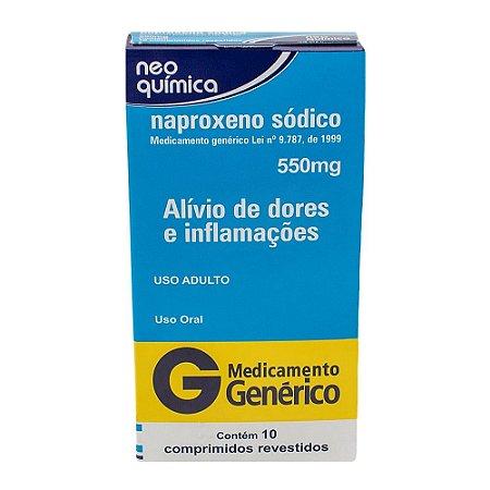 Naproxeno 550mg com 10 comprimidos