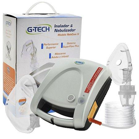 Inalador Nebulizador G-Tech Modelo NebCom V Prata