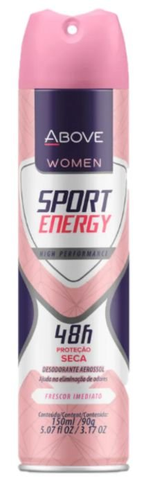 Desodorante Antitranspirante Above Sport Energy 150mL/90g Baston