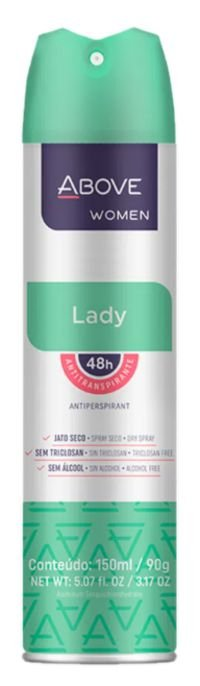 Desodorante Antitranspirante Above Lady 150mL/90g Baston