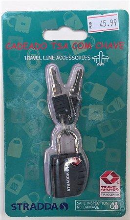 Cadeado TSA com chave - STRADDA