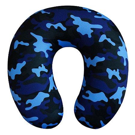 Almofada de Pescoço Camuflada Azul
