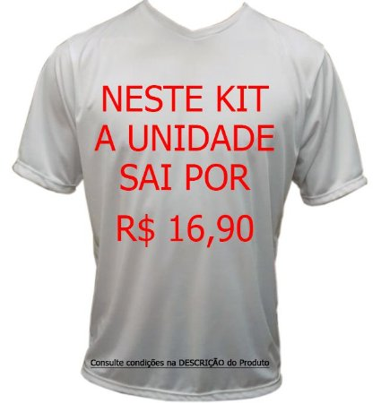 Camiseta Promocional Personalizada - KIT 100