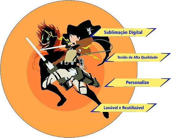 Painel Redondo Personalizado Attack on Titan