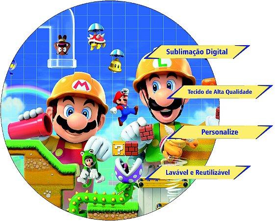 Painel Redondo Personalizado Mario Bros