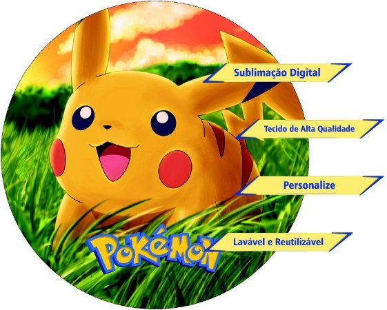 Painel Redondo Personalizado Pokemon