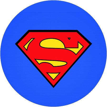Painel Redondo Personalizado Superman