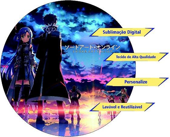 Painel Redondo Personalizado Sword Art Online