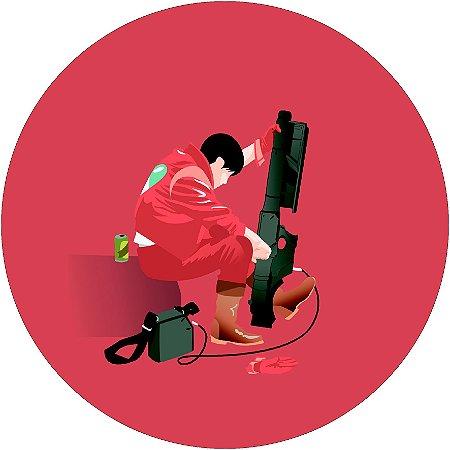 Painel Redondo Personalizado Akira Vermelho
