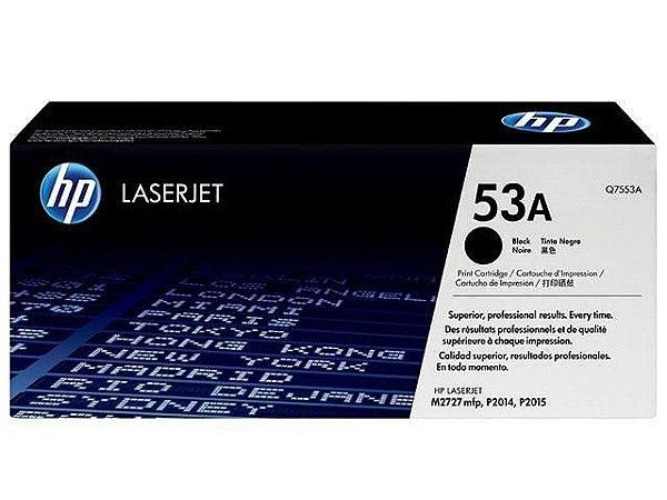 TONER HP Q7553AB PRETO ORIGINAL P/ HP P2015/2014