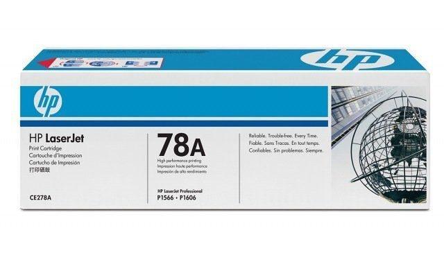TONER HP CE278A ORIGINAL P/HP P1566/P1606/P1606DN/M1530/M1536  PRETO