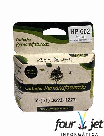 CARTUCHO REMANUFATURADO 662 PRETO