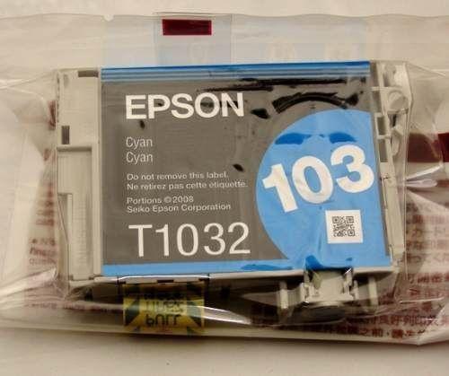 Cartucho de Tinta Epson Original  103 Ciano   T1032