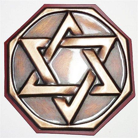 Quadro Hexagrama Cobre - Tam. P 8cm