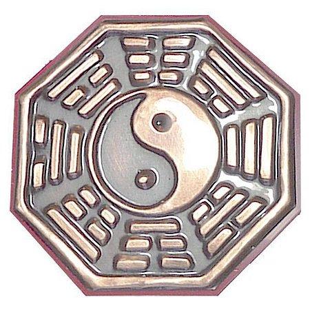 Baguá Yin Yang Feng Shui (em cobre) - Tam G