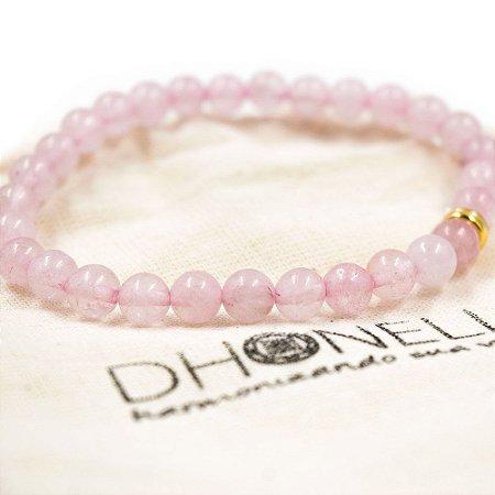 Pulseira do Amor Próprio e Cura interior (Quartzo Rosa) Pedras naturais