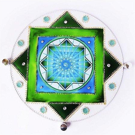 Quadro Decorativo Mandala dos Sonhos (com Fita Dupla Face 3M)