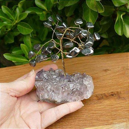 Árvore de Pedra Hematita (Arvore da Felicidade) 13cm