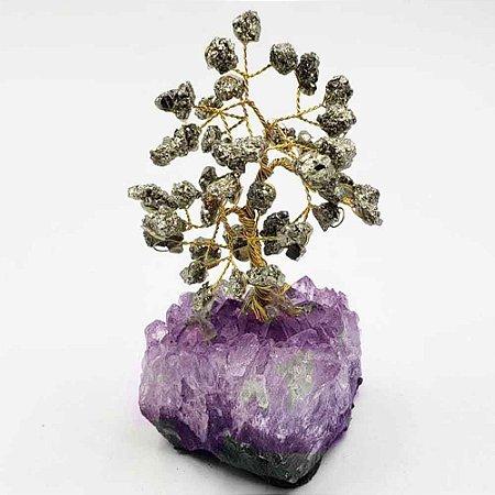 Árvore de Pedra Pirita (Arvore da Fortuna) 13cm