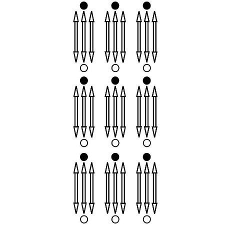 Adesivo Gráfico  Luxor PQ 9pçs