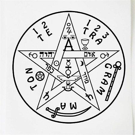 Adesivo Radionica Tetragrammaton GR 3pçs