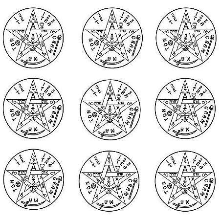 Adesivo Radionica Tetragrammaton PQ 9pçs