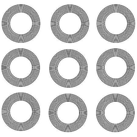Gráfico 9 círculos para Proteção PQ 9 pçs