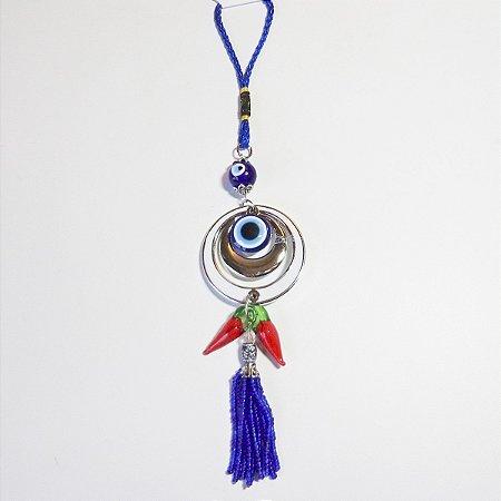 Amuleto Olho Grego e Pimenta